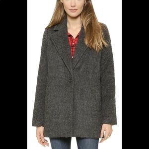 Madewell brushed weave cocoon coat